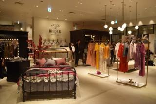 モデルの梨花が手掛ける「メゾン ド リーファー」(2階)。カフェ業態を含めたフルコンテンツでの出店は、東京代官山以外で初